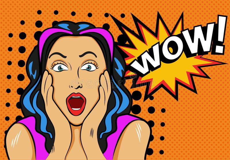 femme-avec-wouah-le-signe-illustration-de-vecteur-dans-le-bruit-61442617